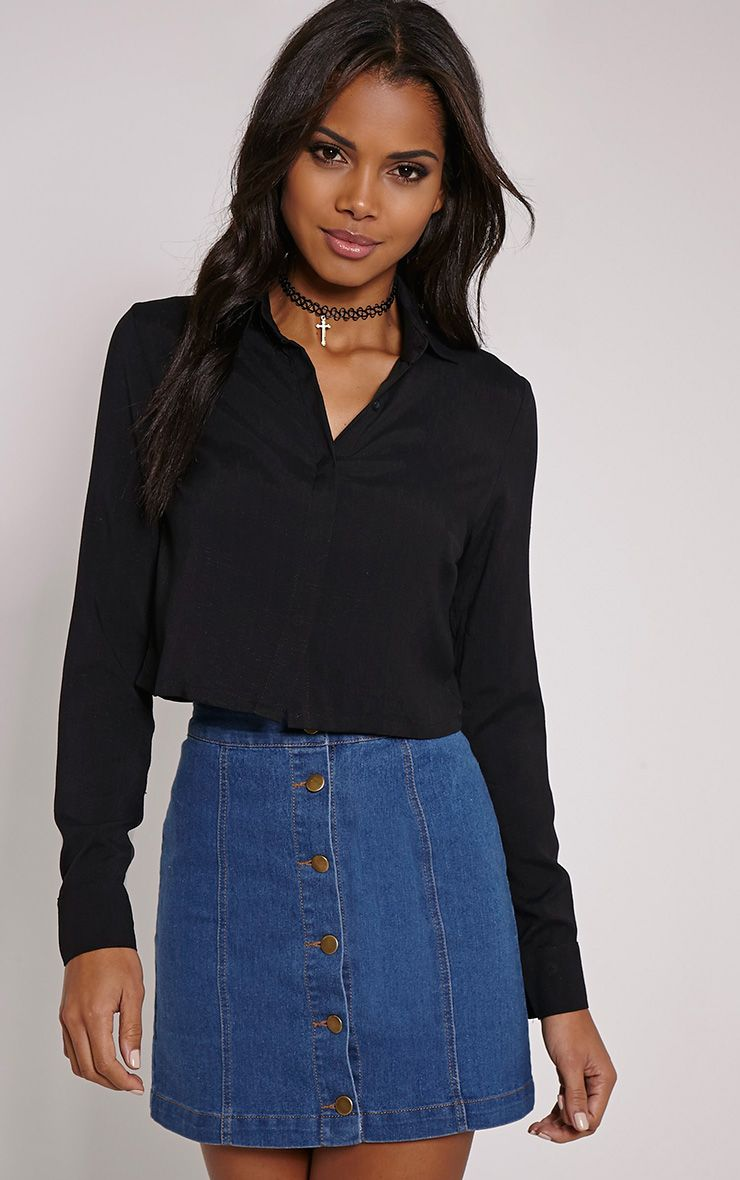 Nuria Black Crop Shirt 1