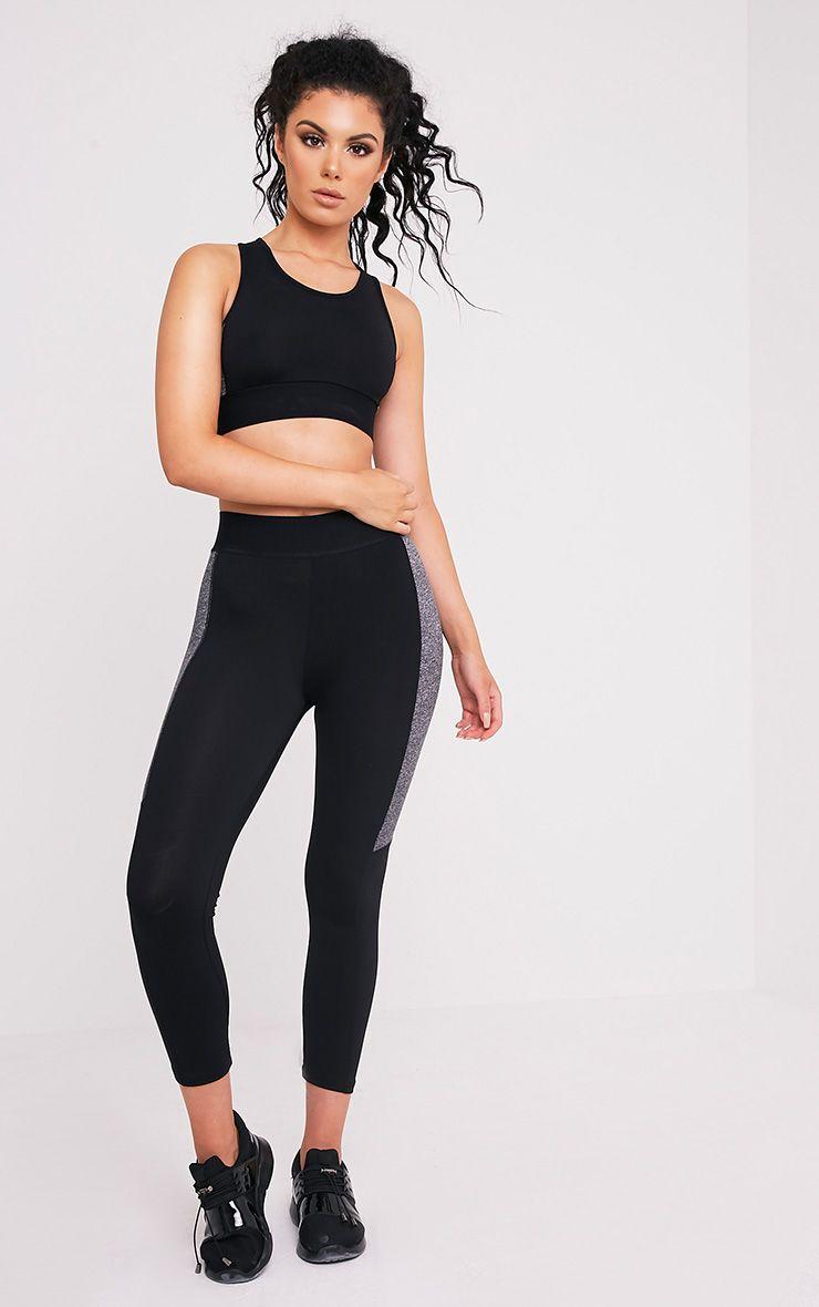 Isadora Black Panelled Gym Leggings