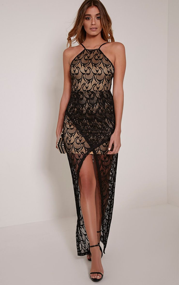 Dianie Black Lace Maxi Dress 1