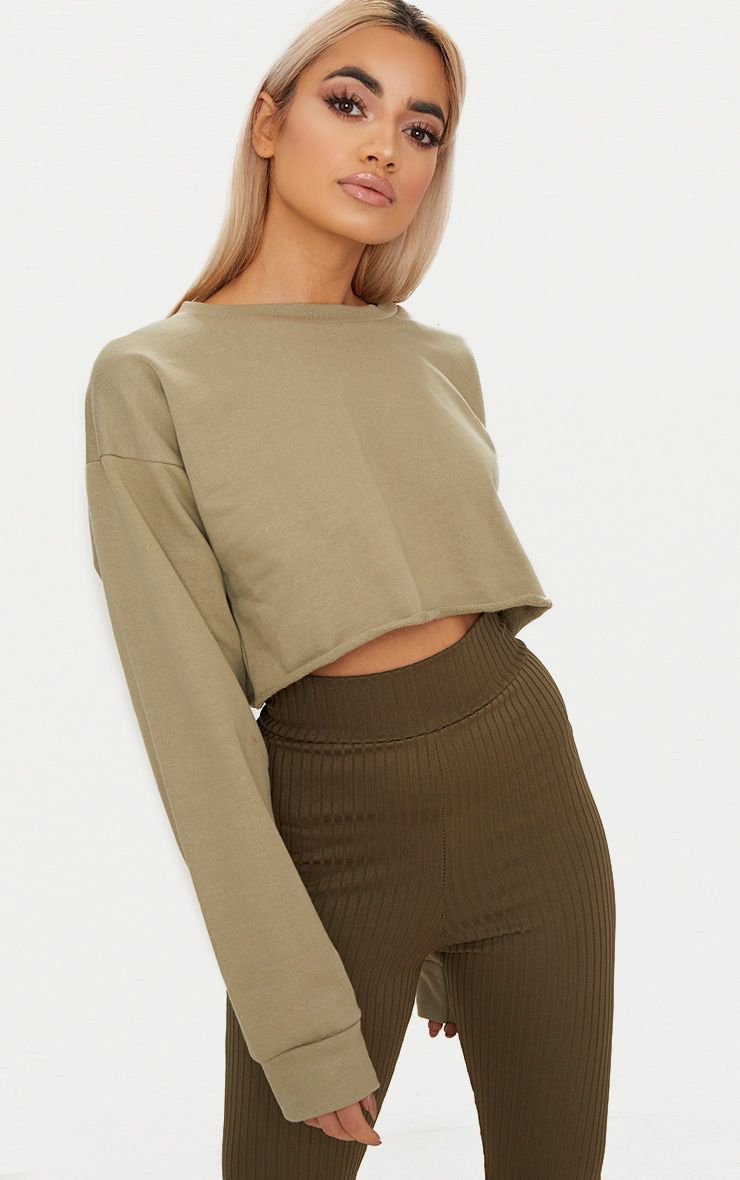 PRETTYLITTLETHING Long Sleeve Crop Sweater