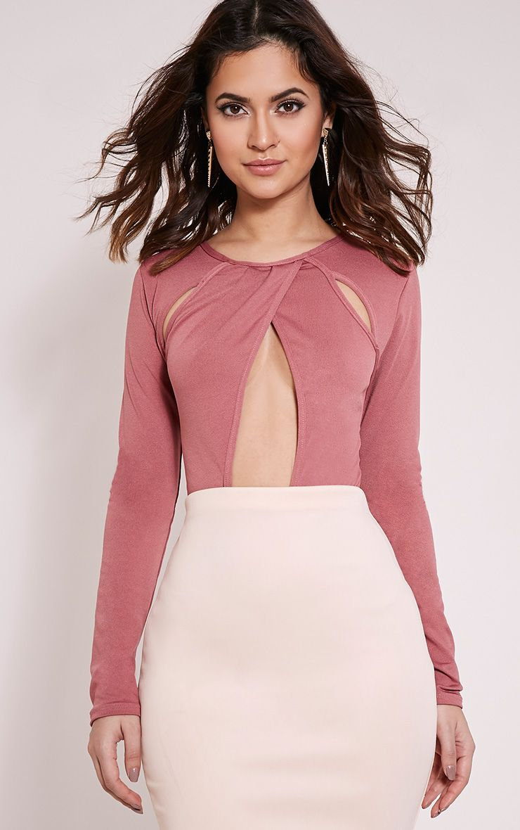 Miranda Rose Cut Out Bodysuit 1
