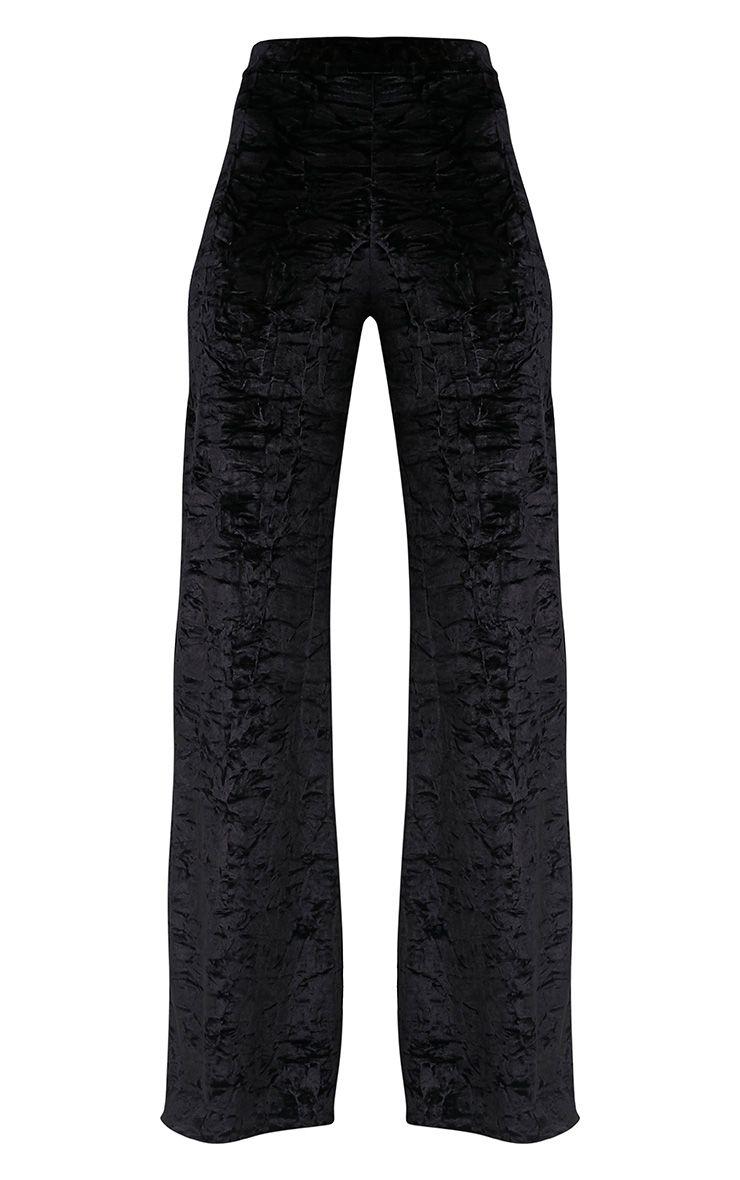 Jill Black Crushed Velvet Palazzo Trousers 3