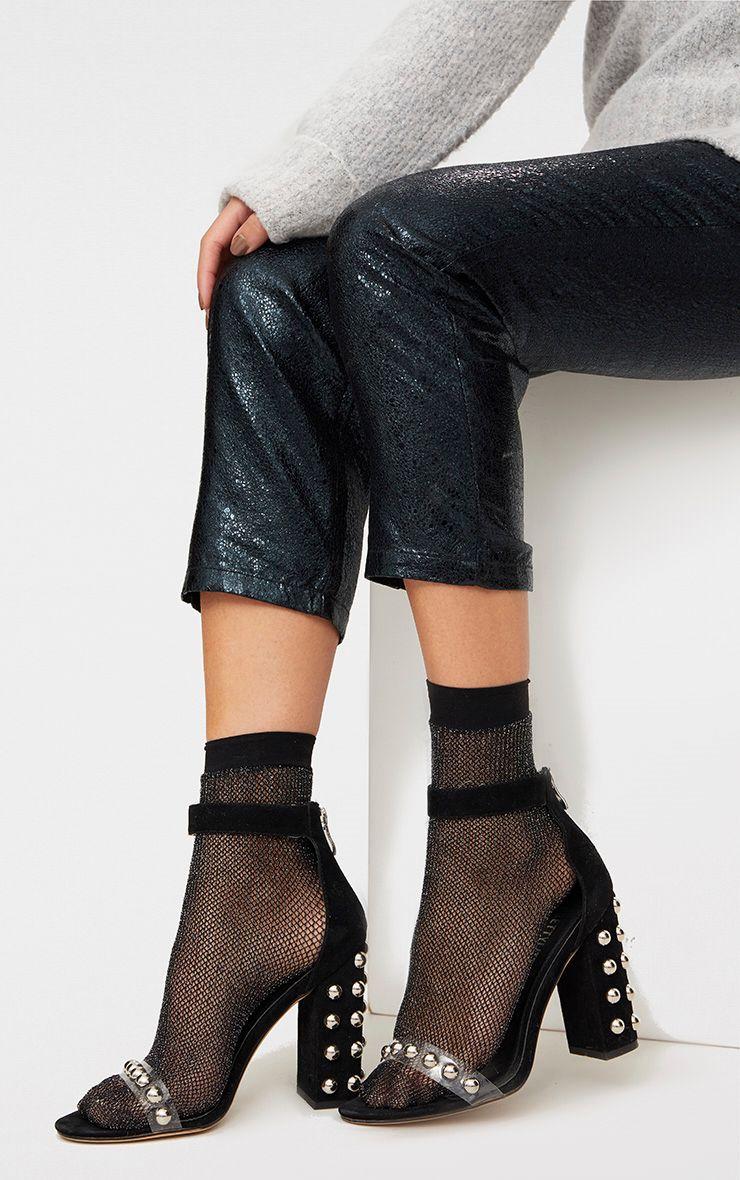 Black Glitter Fishnet Socks