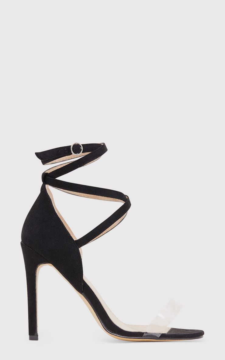 Renice Black Strappy Heeled Sandals