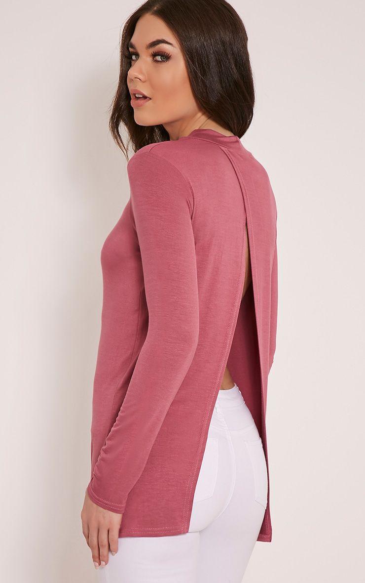 Tanya Rose Split Back Long Sleeve T Shirt 1