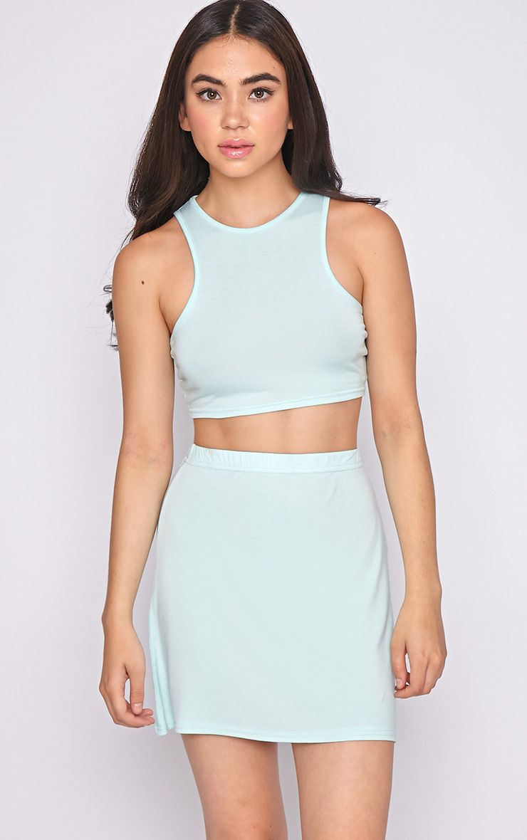 Madelyn Mint Crop Top 1