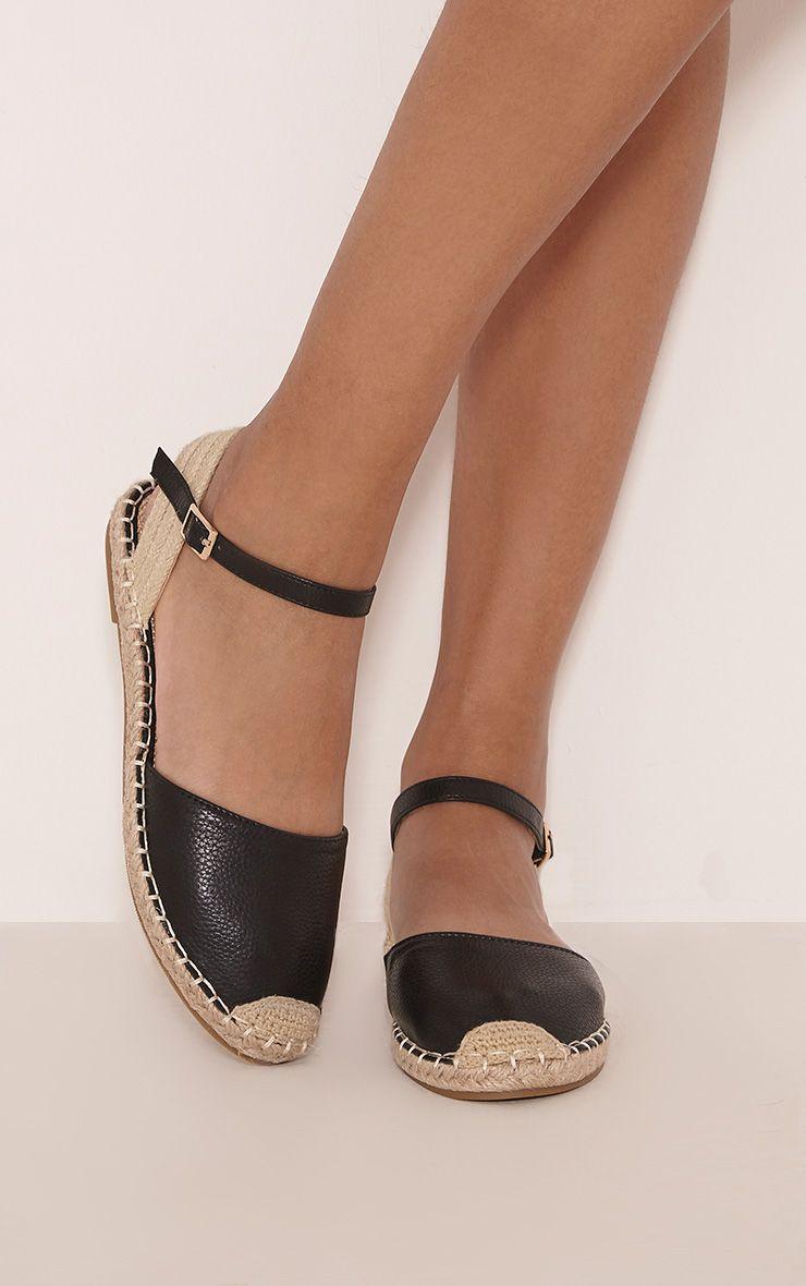 Kesha Black Espadrille Sandals