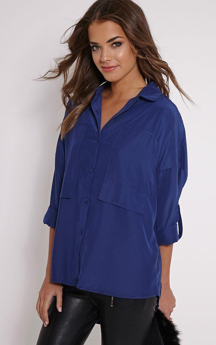 Birta Navy Oversized Pocket Shirt 1