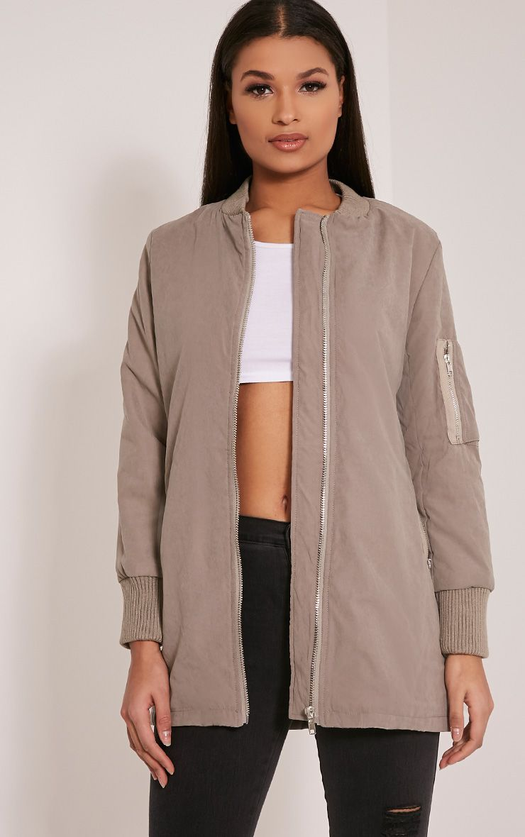 Bailey Bomber long gris 1