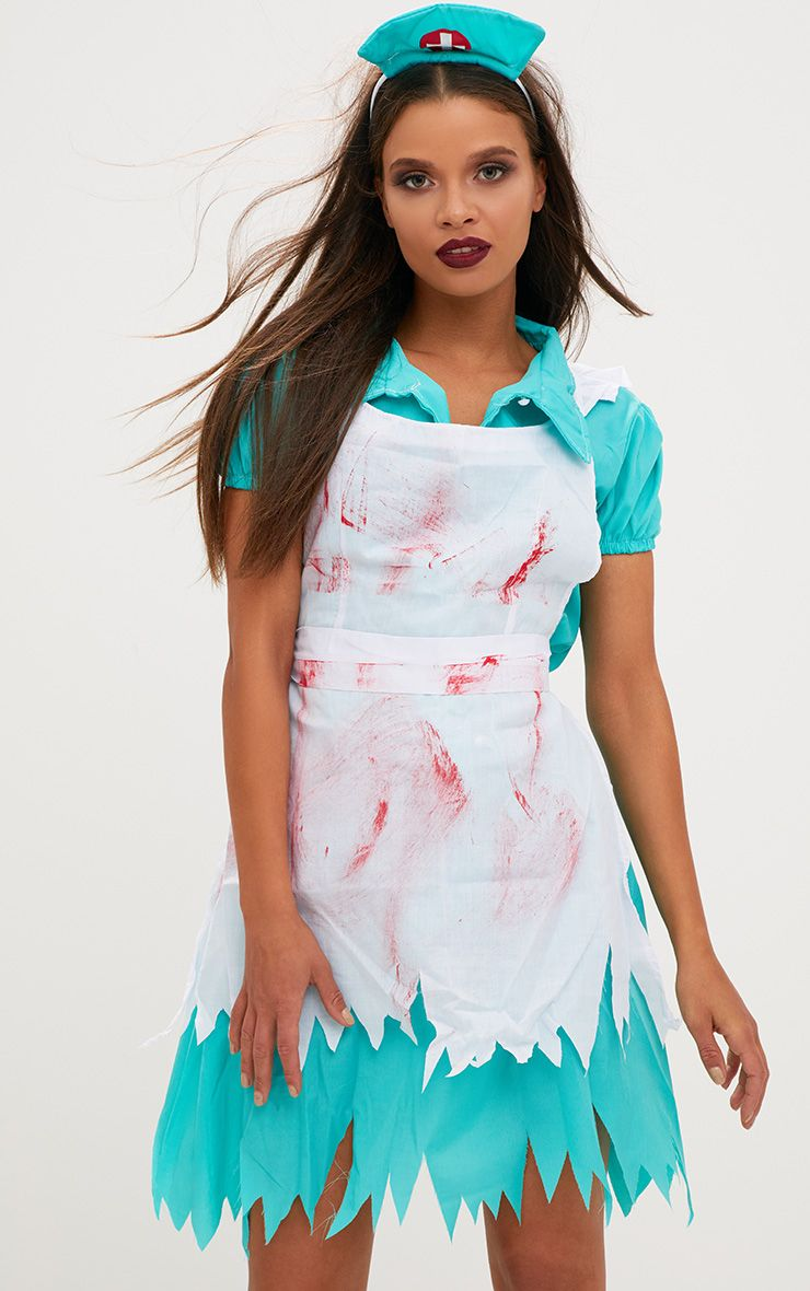 Zombie Nurse Fancy Dress Costume