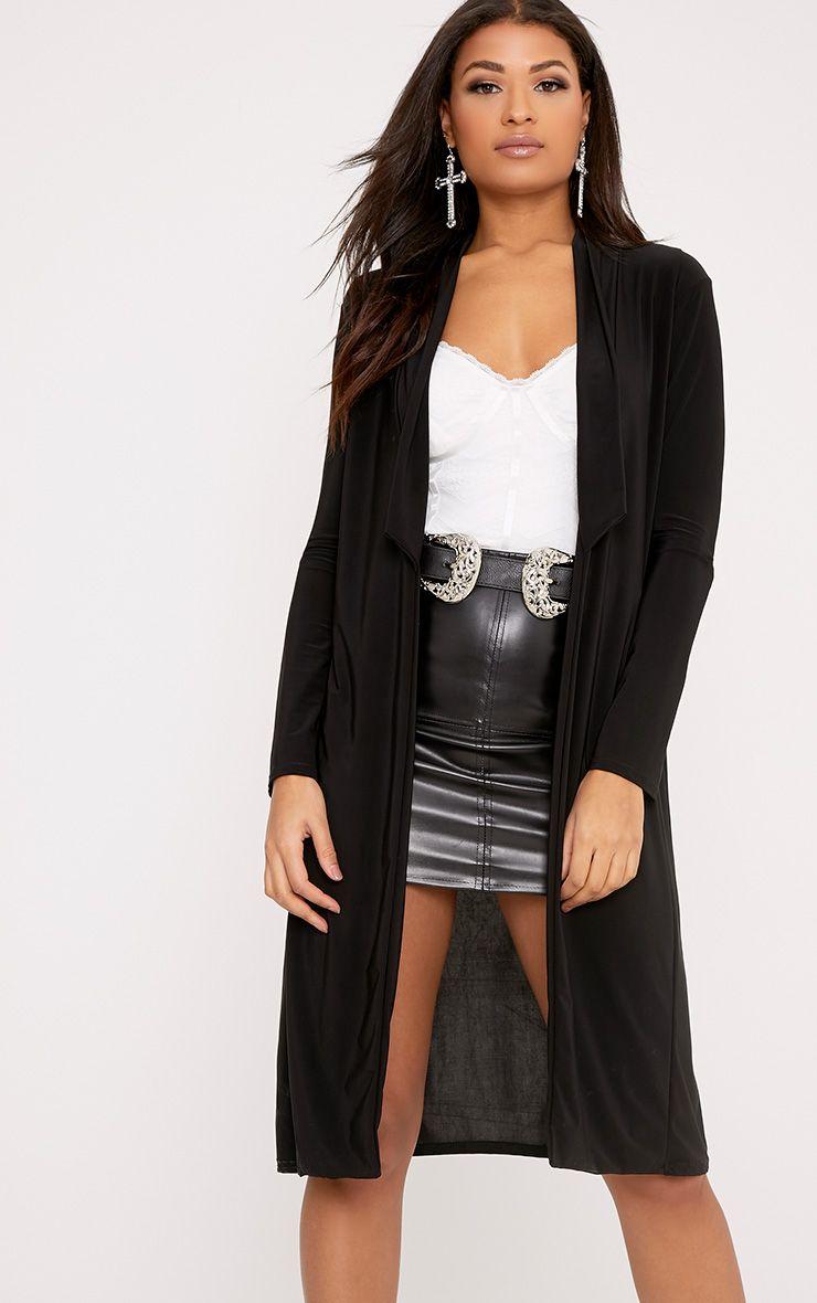 Kleo Black Slinky Drape Jacket