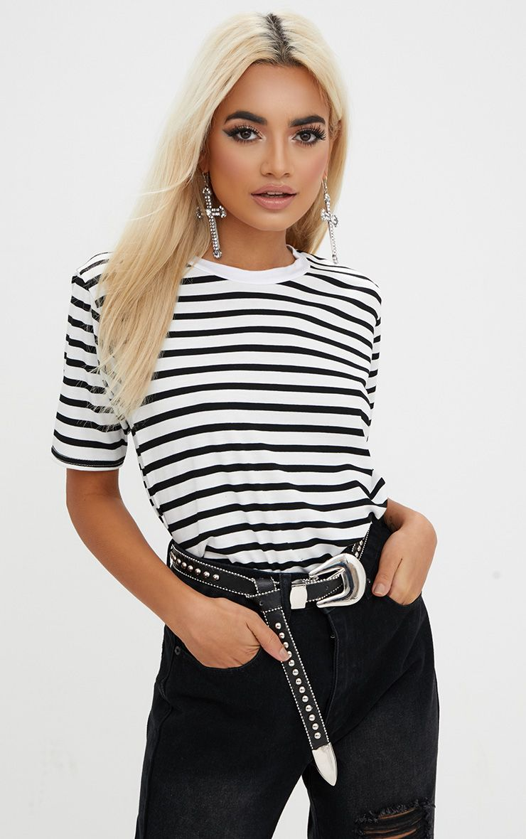 Black Stripe T Shirt