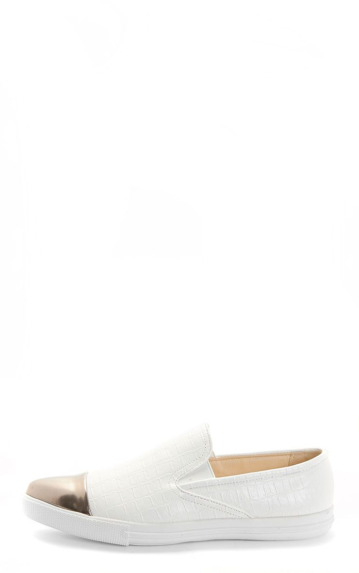Cassidy White Pointed Toe Trainer 1
