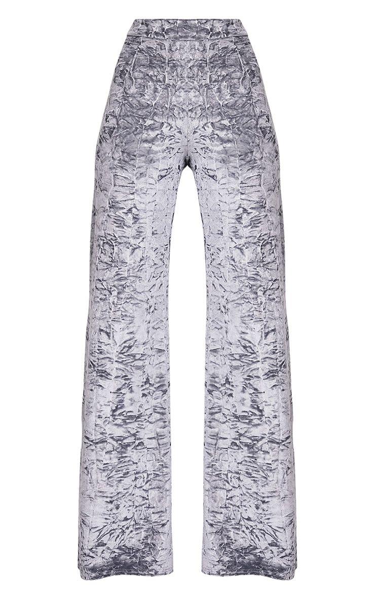 Jill pantalon en velours écrasé gris 3