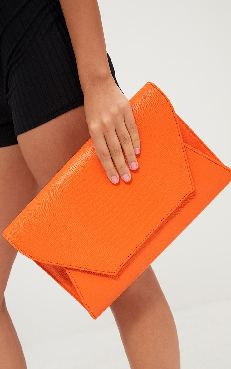 Orange Oversized Reptile Clutch