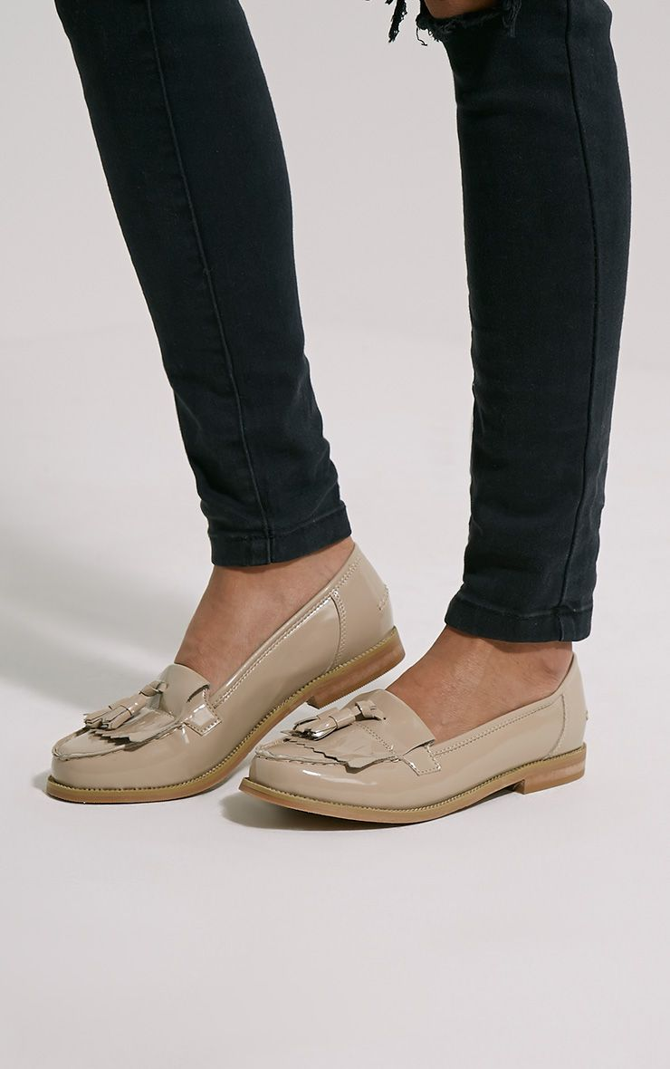 Trella Nude Patent Loafers 1