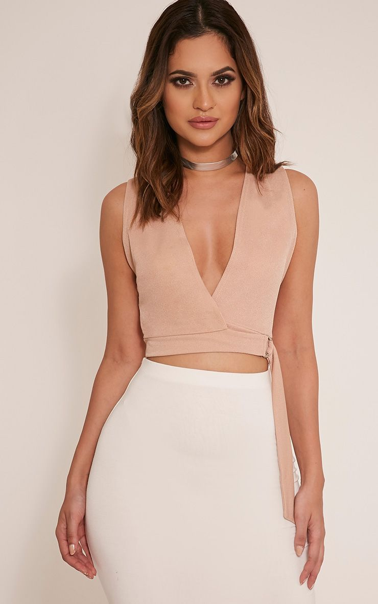 Aoife Stone D Ring Wrap Crop Top 1