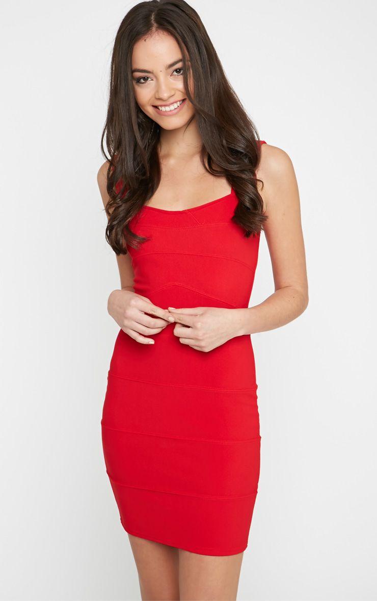 Faith Red Bandage Mini Dress 1