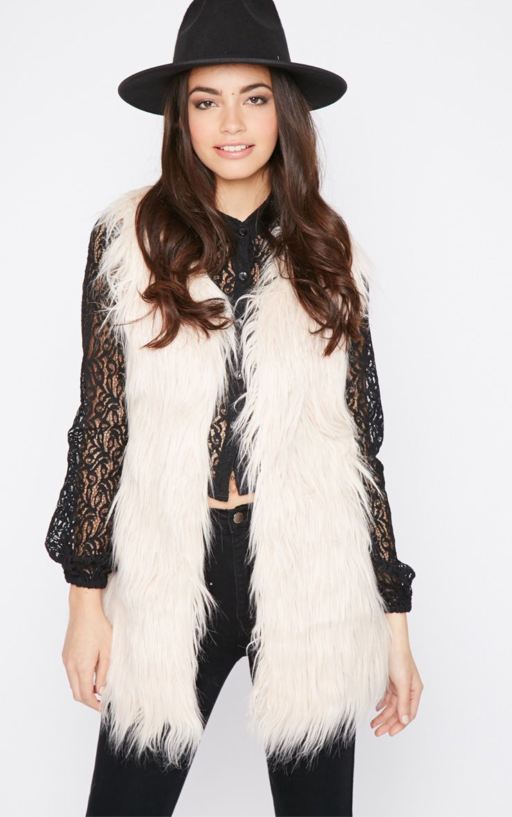 Kolina Blush Fur Gilet 1