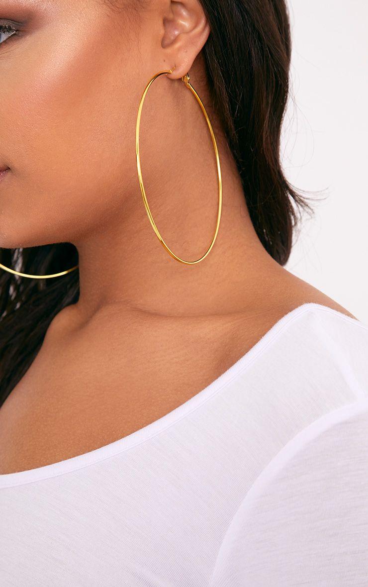Jessah Gold Large Hoop Earrings  1
