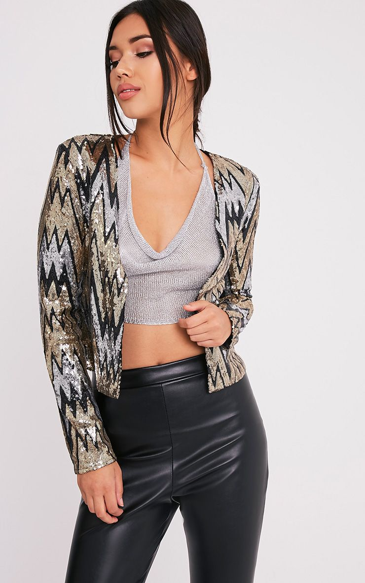 Sharell Black Sequin Trophy Jacket 1