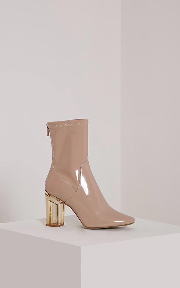 Killah Nude Perspex Heel Boots
