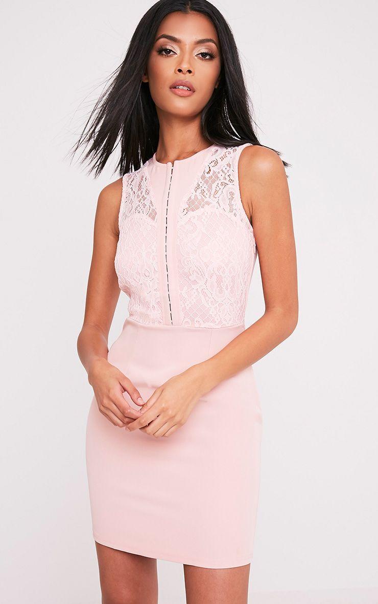 Tayana Blush Hook and Eye Detail Mini Dress