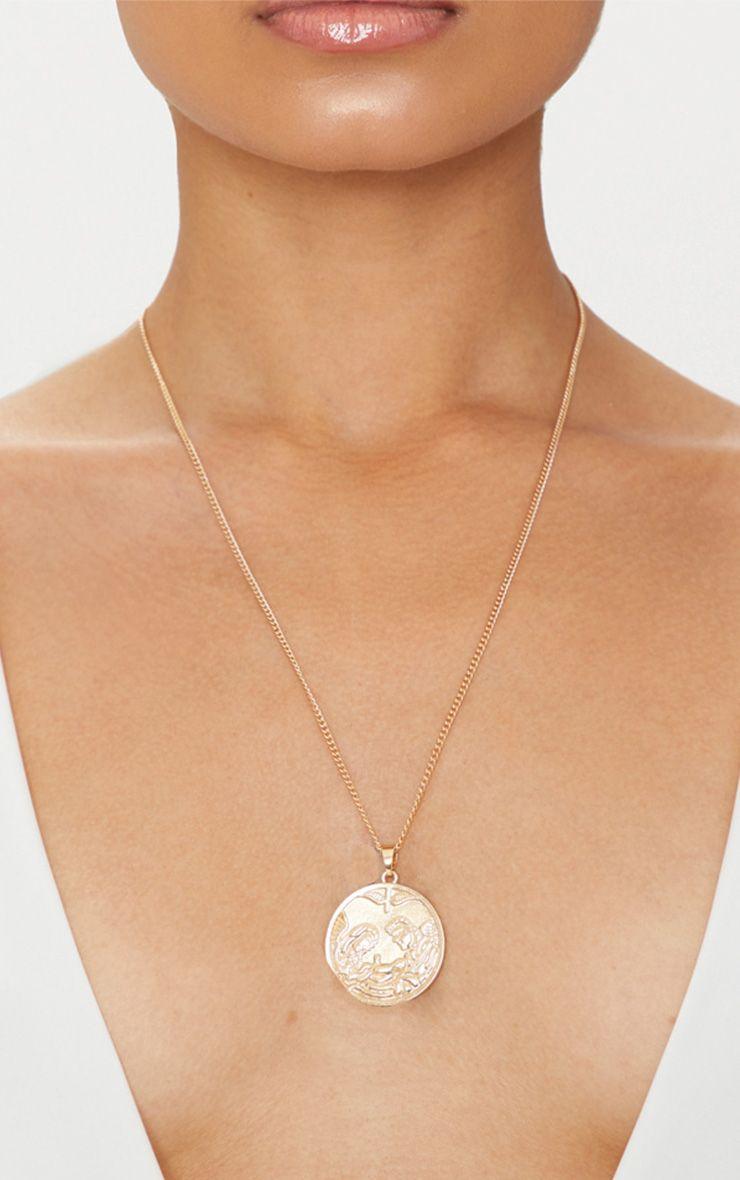 Gold Angel Medallion Necklace