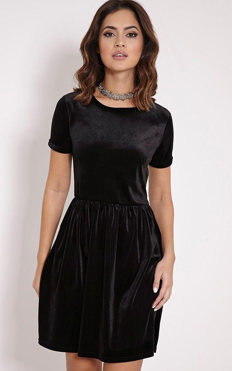 Rubie Black Velvet Skater Dress 1