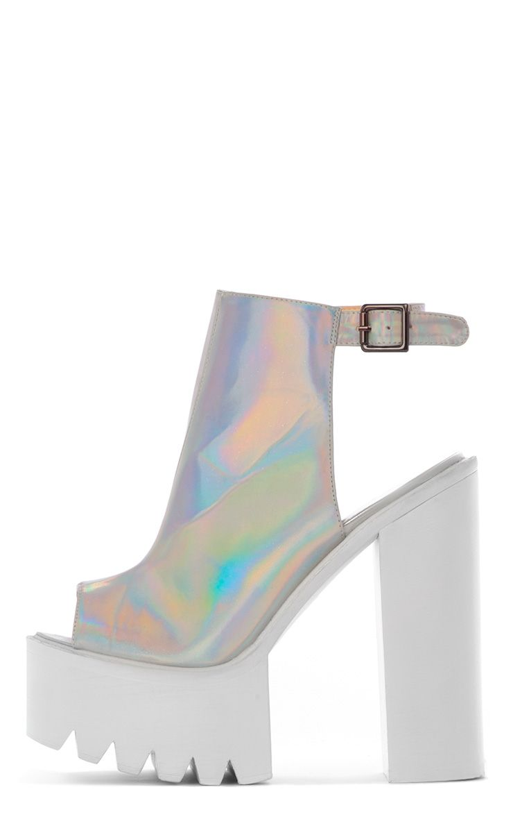 Carmen Holographic Sling Back Cleated Sole Shoes 1