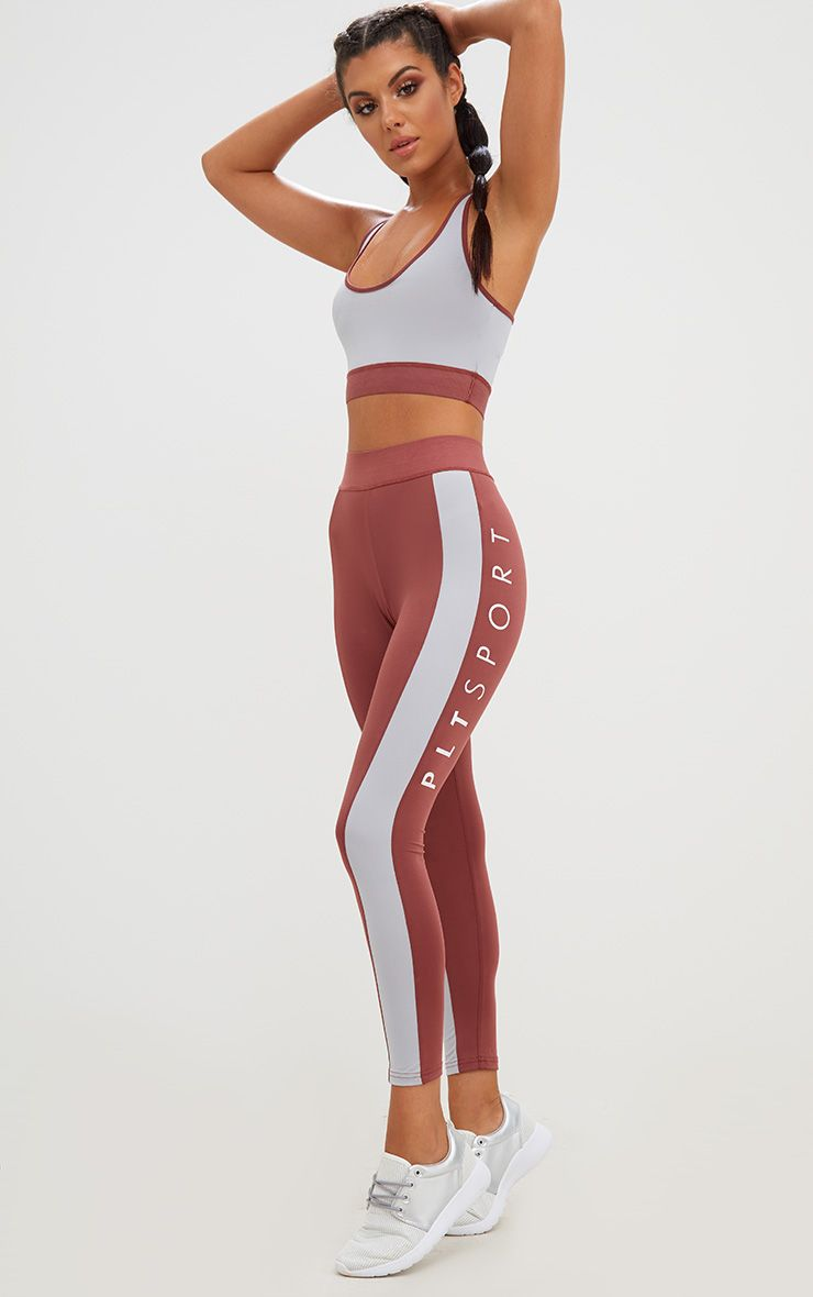 Rose Contrast Gym Leggings 1