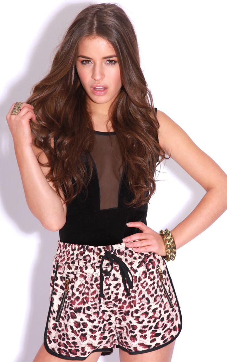 Clarissa Leopard Print Boxer Shorts 1