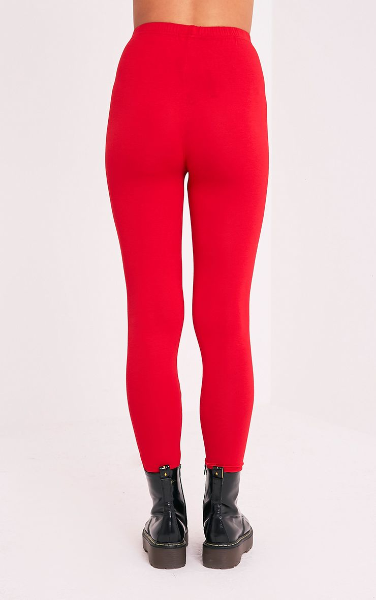 Basic legging en jersey rouge 5