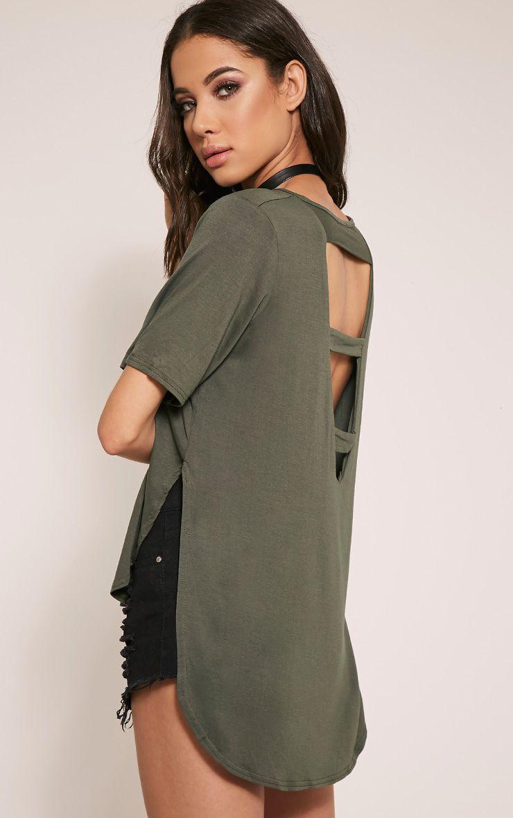 Ashby Khaki Strap Back Jersey T-Shirt