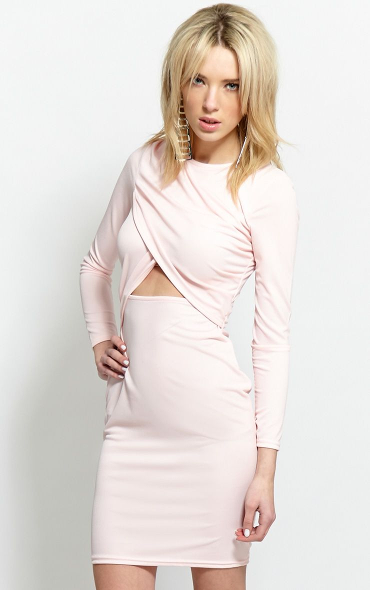 Diana Pink Cut-Out Bodycon Midi Dress-16 1