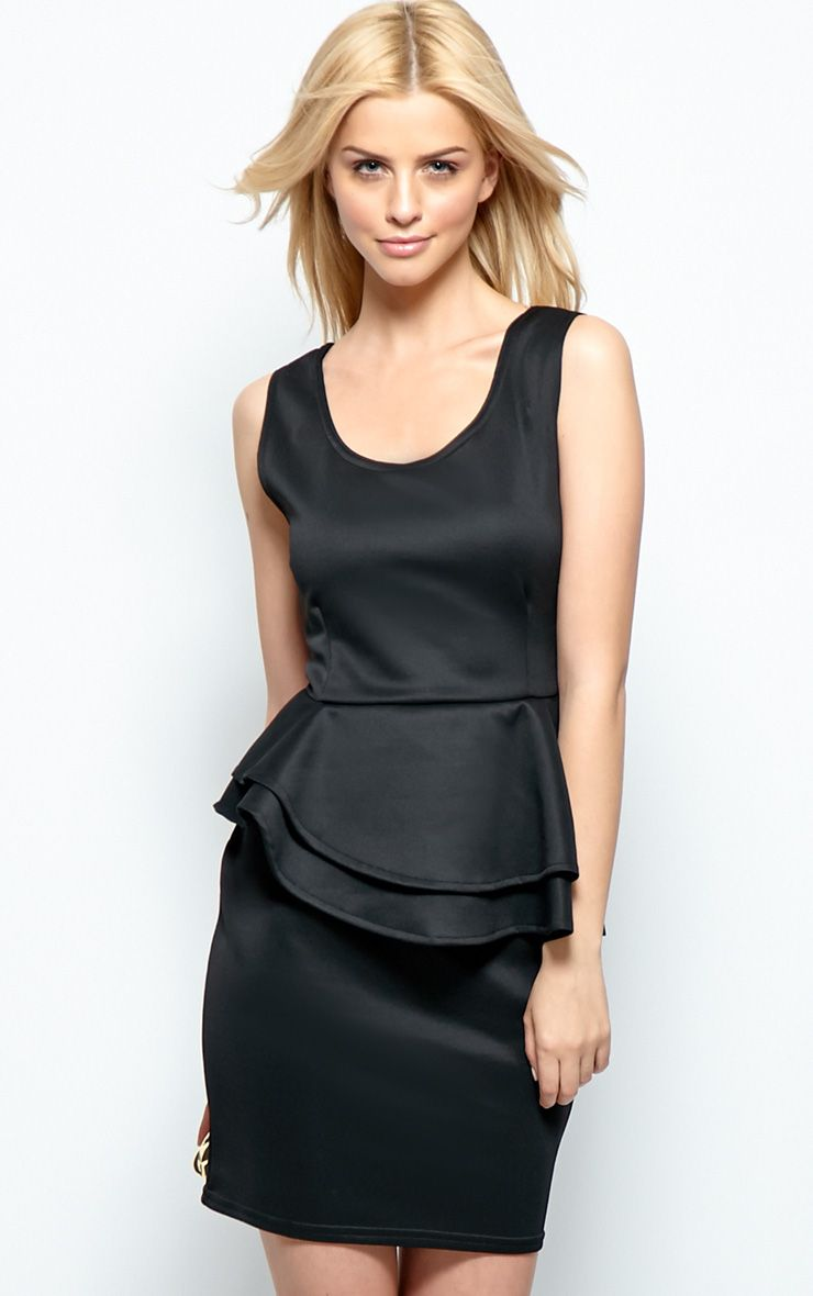 Cleo Black Peplum Dress 1