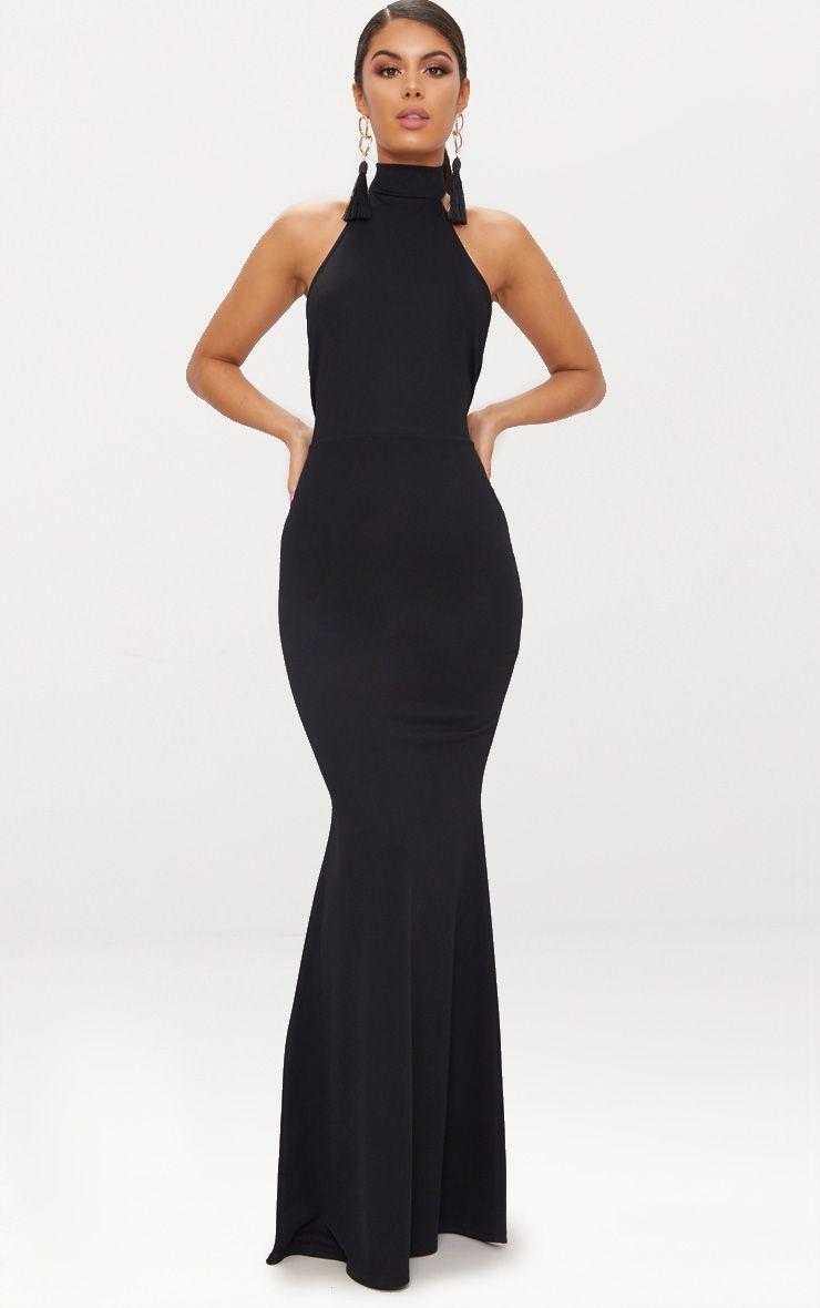 Formal black dresses for women