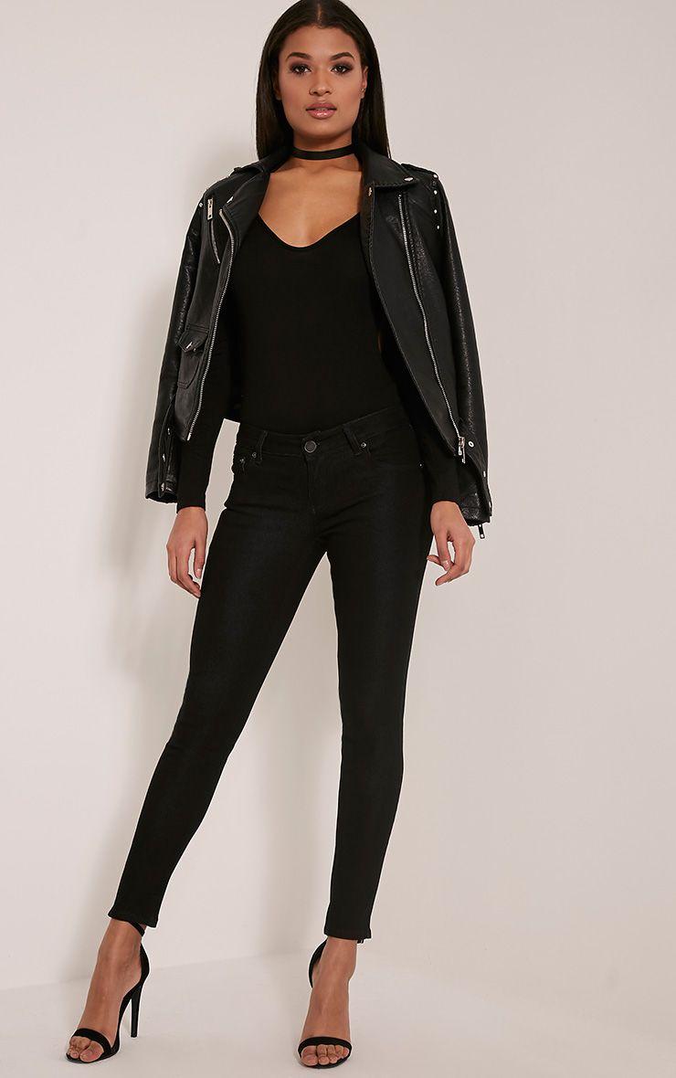 Kim Black Slim Leg Jeans