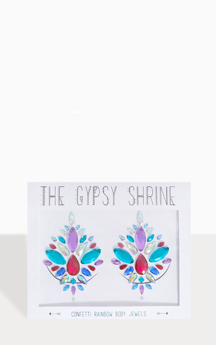 Bijoux de poitrine The Gypsy Shrine - Confetti Rainbow