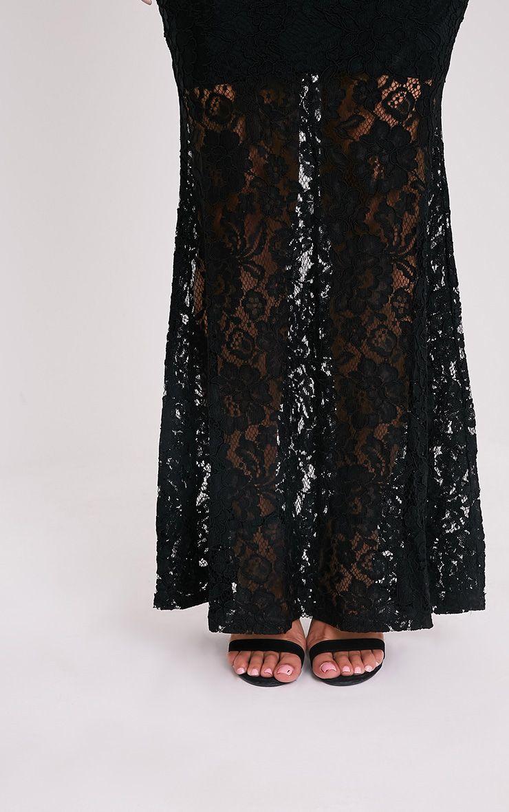 Tarra robe sirène maxi en dentelle noire 6