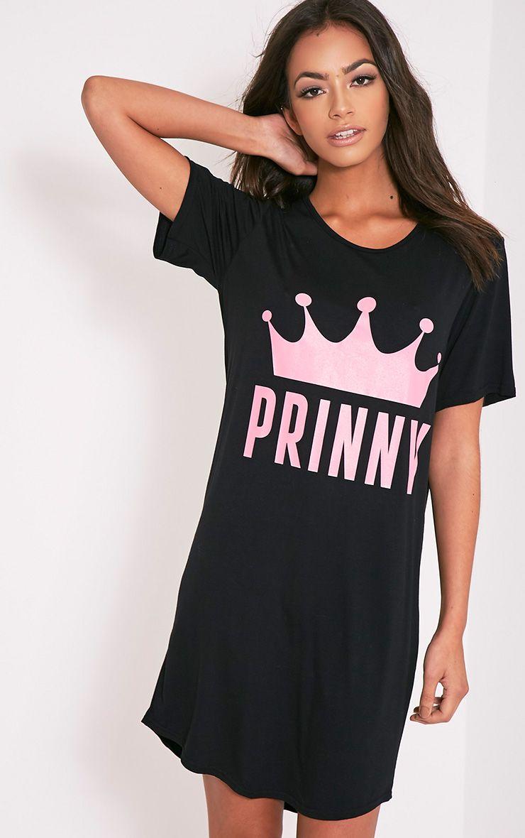 Prinny Black Oversized Nightshirt 1