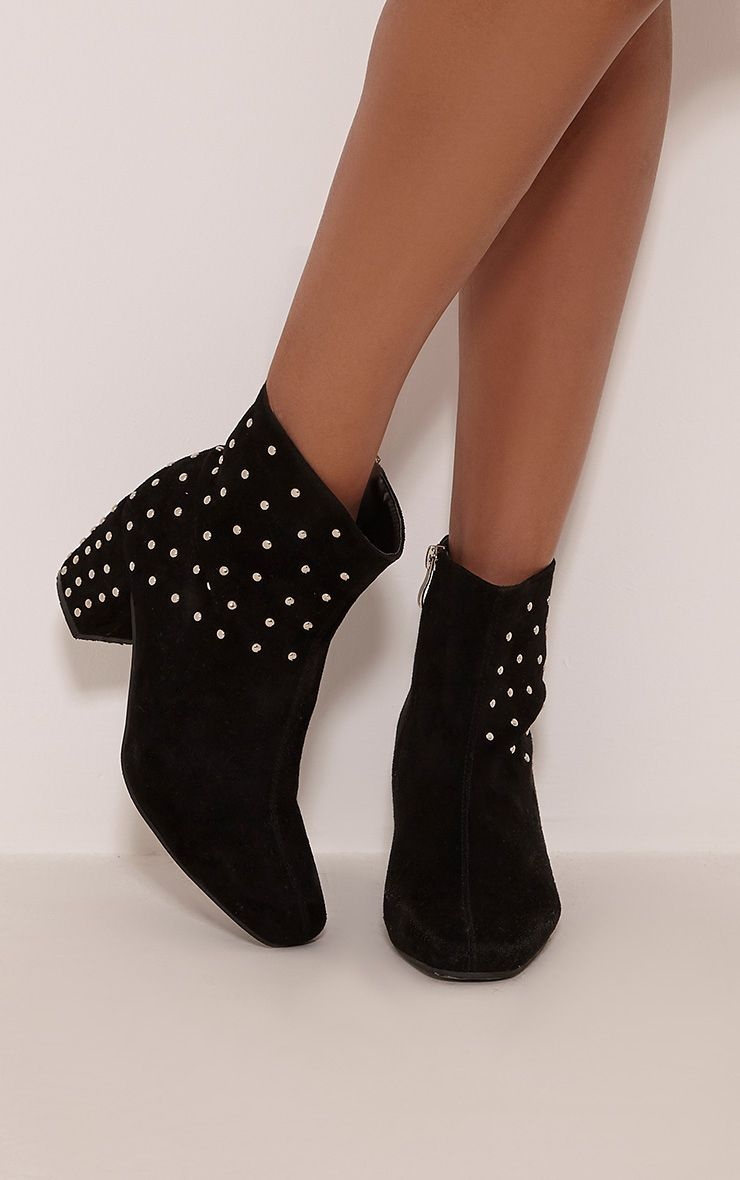 Black Faux Suede High Ankle Boot Pretty Little Thing Manchester Great Sale Sale Online STGwPAGbE