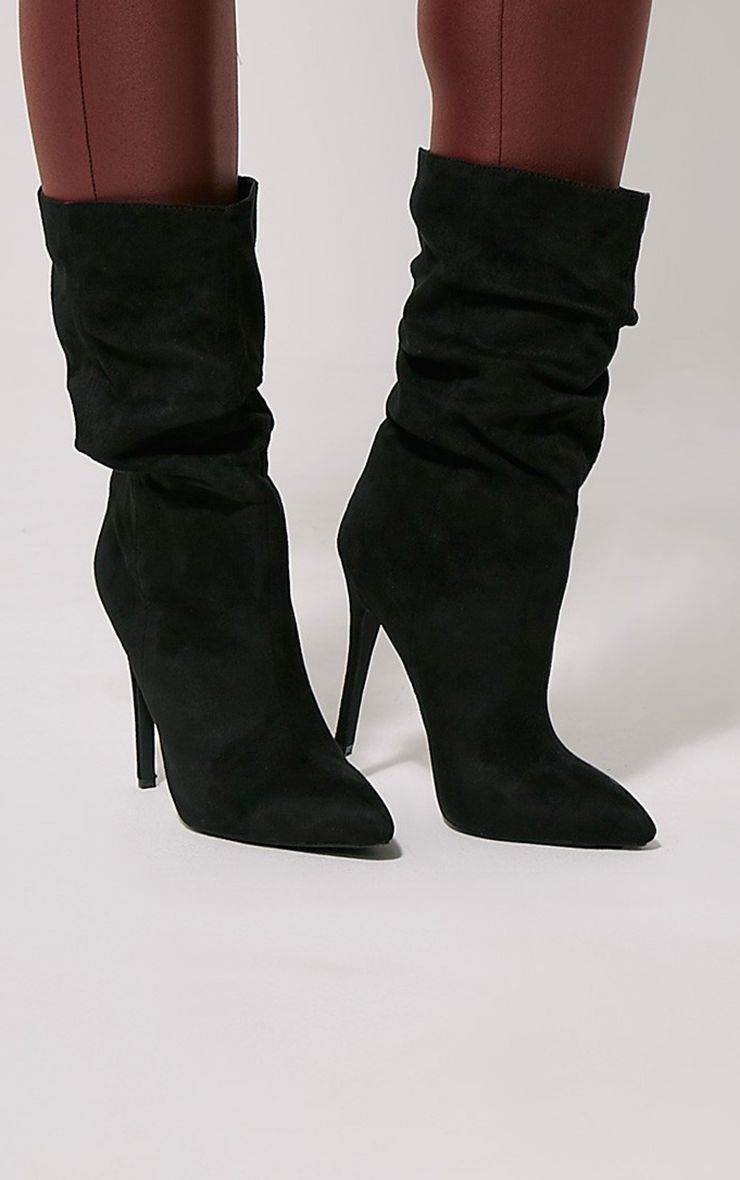 Loordes Black Heeled Calf Boots 1