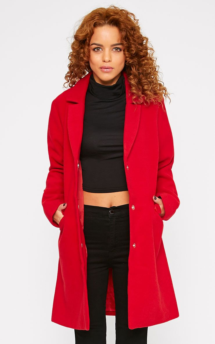 Emmie Red Boyfriend Coat  1