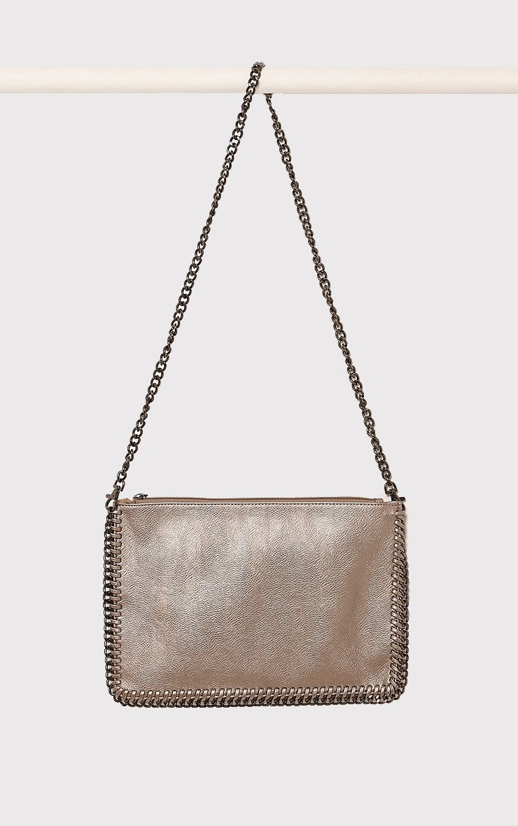 Wilfrie Pewter Oversized Chain Detail Bag