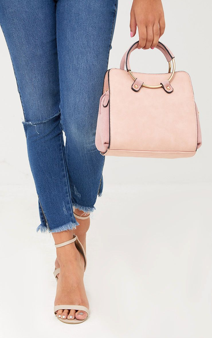 Pink Hoop Handle Shoulder Bag