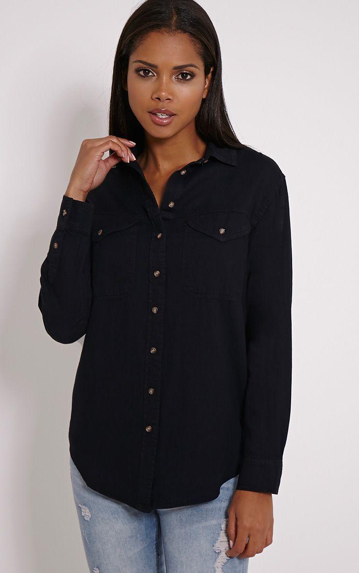Loida Black Denim Shirt 1