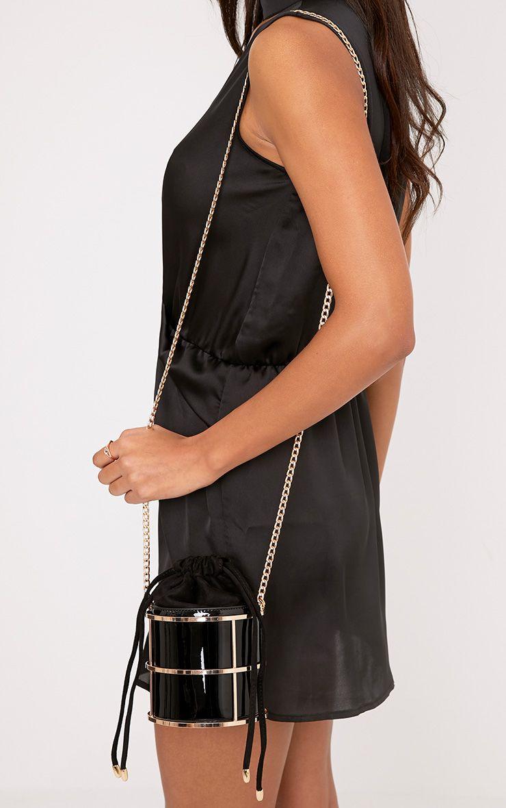 Brooke Black Drawstring Circle Bag