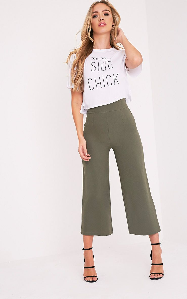 Tazmin Khaki High Waisted Culottes