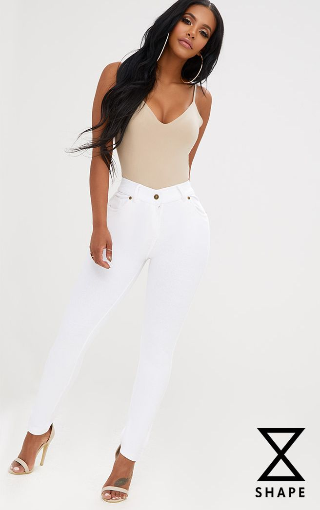 SHAPE WHITE JEGGINGS
